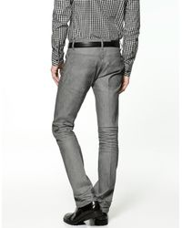 Zara | Gray Coloured Waxed Jeans for Men | Lyst