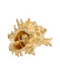 Alexander McQueen - Metallic Shell Skull Ring - Lyst