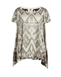 AllSaints | Gray Blanket T-shirt | Lyst