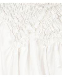AllSaints | White Kala Top | Lyst