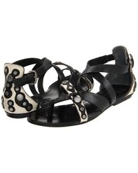 Belle By Sigerson Morrison | Black Sandals Tamila Strappy | Lyst