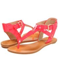 Belle By Sigerson Morrison - Red Randy Sandals - Lyst