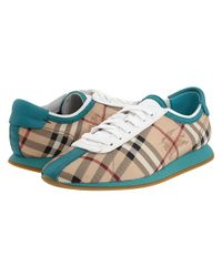Burberry - Blue Haymarket Lace-up Sneaker - Lyst