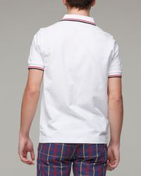 Fred Perry - White Twin Tipped Polo for Men - Lyst