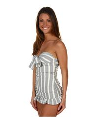 Juicy Couture | Gray Crinkled Underwire Swimdress | Lyst