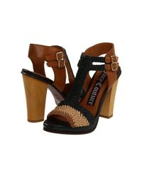 Juicy Couture | Black Sandals Crista Woven Chunky Heel | Lyst