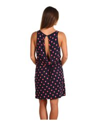 Juicy Couture - Black Polka Dot Keyhole Dress in Bright Cerise - Lyst