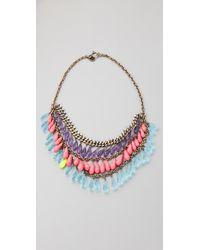 Juicy Couture - Metallic Briolette Torsade Necklace - Lyst