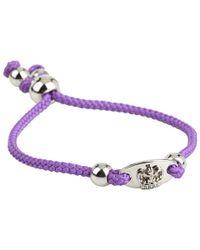 Juicy Couture | Purple Crown Id Friendship Bracelet | Lyst