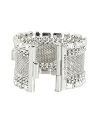 Juicy Couture - Metallic Hard Core Couture Mesh Chain Bracelet - Lyst