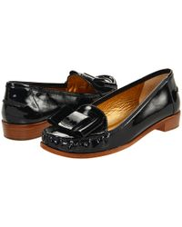 Kate Spade   Connie - Black Patent Bow Loafer   Lyst