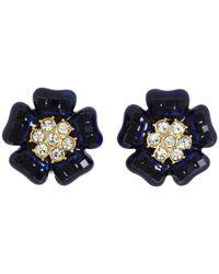 kate spade new york | Blue Carroll Gardens Clip Earrings | Lyst