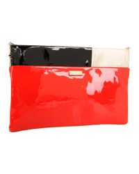 kate spade new york | Red Pastiche Brynn Patent Clutch | Lyst