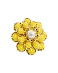 kate spade new york - Metallic Sweet Zinnia Floral Ring - Lyst