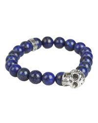 King Baby Studio | Blue Day Of The Dead Beaded Bracelet for Men | Lyst