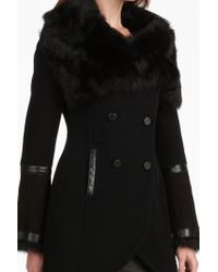 Mackage - Black Tanya Fur Collar Coat - Lyst