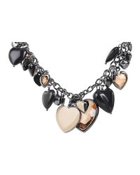 Marc By Marc Jacobs | Black Iconic Hearts - Gabrielle Necklace | Lyst