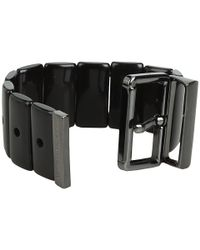 Marc By Marc Jacobs - Black Predator Stretch Buckle Bracelet - Lyst