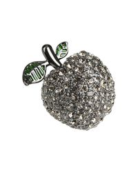 Marc By Marc Jacobs - Metallic Anniversary Pave Apple Ring - Lyst