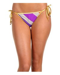 Marc By Marc Jacobs | Multicolor Merida Striped String Bikini Bottoms | Lyst