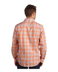 Michael Kors | Orange Flanders Plaid Shirt for Men | Lyst