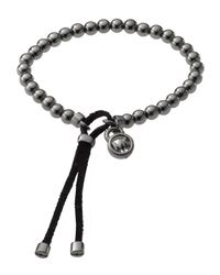 Michael Kors | Black Bead Stretch Bracelet, Hematite-color | Lyst
