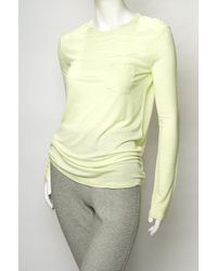 T By Alexander Wang - Yellow Classic Long-sleeve Tee - Lyst