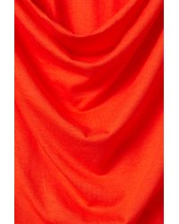 TOPSHOP | Red Open Back Cover Up Tee | Lyst