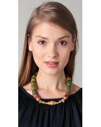 Vanessa Mooney - Green Akasha Diamond Necklace - Lyst