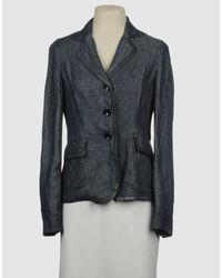 Armani | Blue Denim Outerwear | Lyst