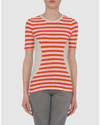 Céline - Red Short Sleeve Jumper - Lyst