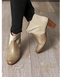 Maison Margiela | Gray Printed Suede Ankle Boots | Lyst