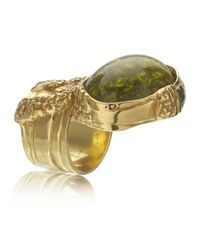 Saint Laurent | Green Arty Oval Ring | Lyst