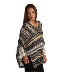 Missoni - Multicolor Fringed Metallic Crochet-knit Wrap - Lyst