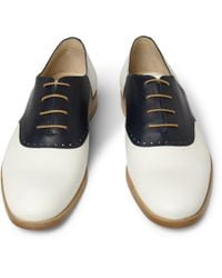 Mr. Hare - White Jerry Lee Contrast-panel Leather Brogues for Men - Lyst