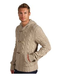 Vince - Natural Hooded Toggle Cardigan for Men - Lyst