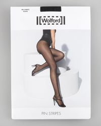 Wolford - Black Pinstripe Tights - Lyst