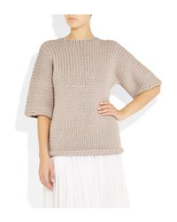 J Brand | Purple Moyet Chunky-knit Cotton-blend Sweater | Lyst