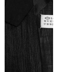 Maison Margiela | Black Fringed Crepe Jacket | Lyst