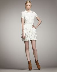 Rachel Zoe | Joplin Ruffle-skirt Dress, Off White | Lyst