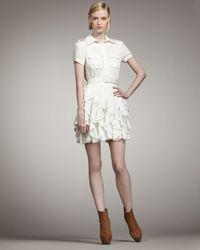 Rachel Zoe - Joplin Ruffle-skirt Dress, Off White - Lyst