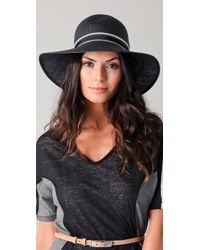 Rag & Bone | Black Wide Brim Beach Hat | Lyst