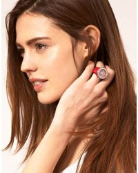 Toy Watch - Red Plastic Strap Watch Ring - Lyst