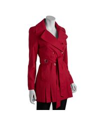 Via Spiga - Red Raspberry Double-breasted Scarpa Belted Trench Coat - Lyst