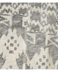 AllSaints - Gray Blanket T-shirt - Lyst