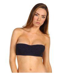 Juicy Couture | Black Starlet Smocked Bandeau Bikini Top | Lyst
