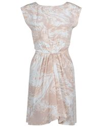 Tibi | Pink Marble Print Dress | Lyst