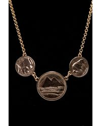 Low Luv by Erin Wasson | 3 Coin Necklace - Yellow Gold | Lyst