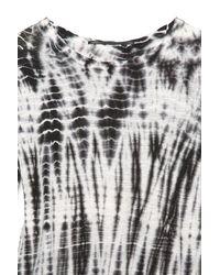 Proenza Schouler   Gray Long Sleeve Tie Dye Tee Shirt in Black/ White   Lyst