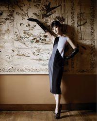 Narciso Rodriguez | Black Colorblock Mid-calf Dress | Lyst